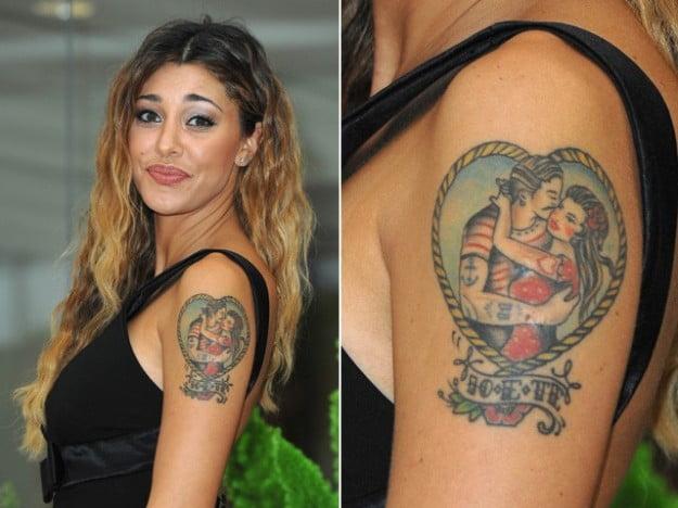 Belen Rodriguez Tatuaggi