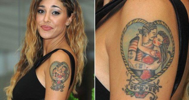 """Belen Rodriguez ha dichiarato:""""Voglio cancellare tutti i miei tatuaggi""""."""